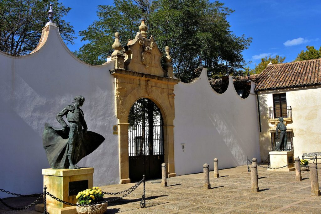 33. Matador Statues outside the Plaza de Toros Text 6 Ronda